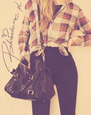 Stylizacja czarne spodnie koszula blog