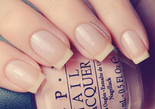 French manicure francuski naturalne paznokcie