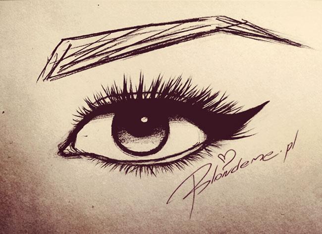 Pin up girl eyeliner kreska kocie rysunek oka makijaz