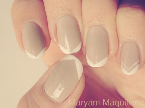 Szewron manicure french chevron wzorki paznokcie