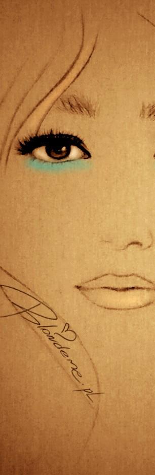 niebieski makijaz brazowych oczu rysunek moda lato