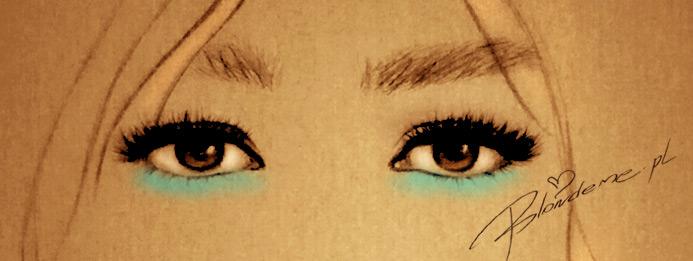 niebieski makijaz oczu brazowych rysunek modowy