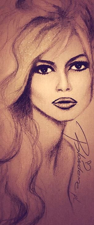 Brigitte Bardot rysunek inspiracje blog blondynka