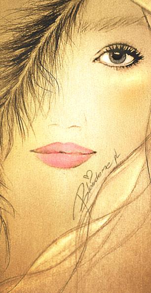 Makijaz dla blondynki rozowe usta blog rysunek