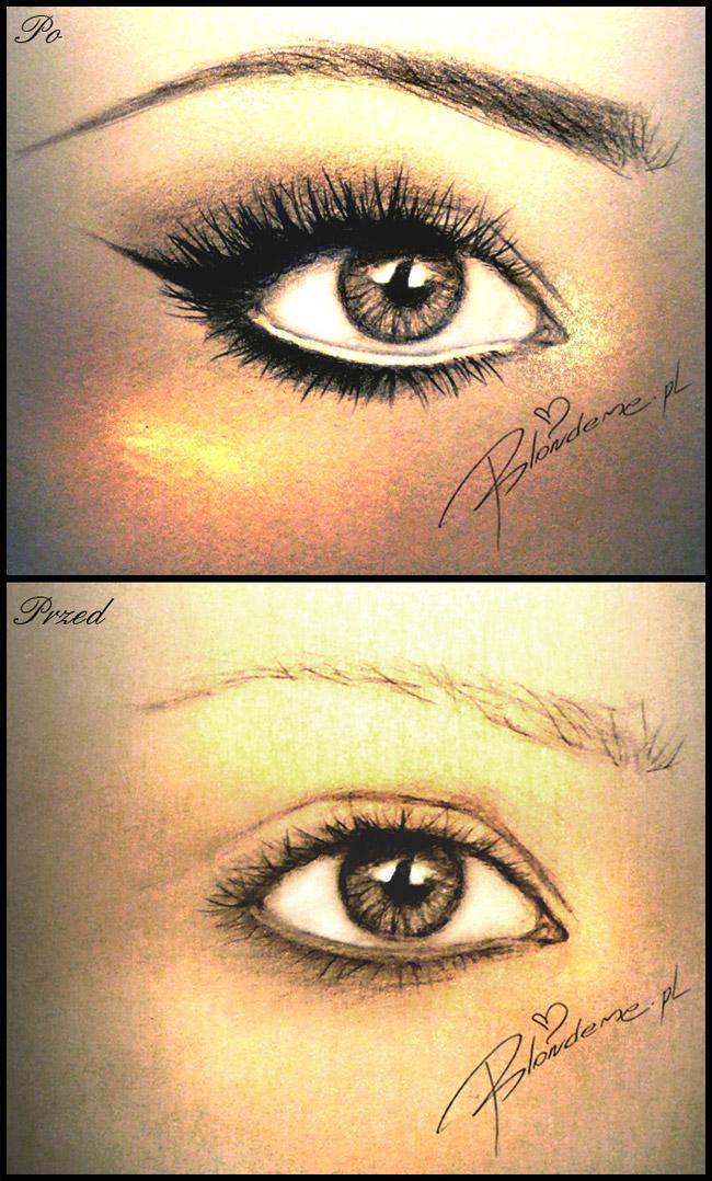 Makijaz powiekszajacy oczy dla blondynki