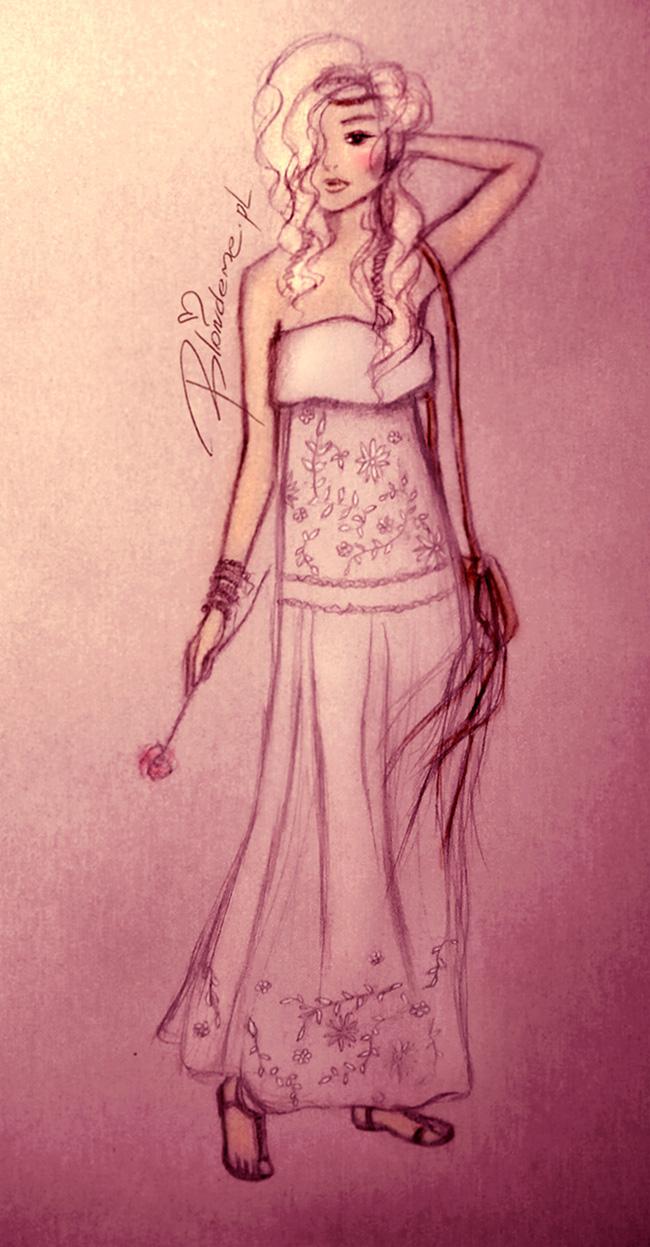 Biala sukienka bez ramiaczek stylizacje boho