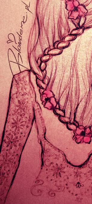 Francuski warkocz fryzura dla blondynki