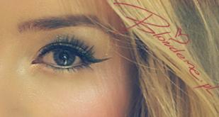 Kreska eyelinerem dla blondynki makijaz