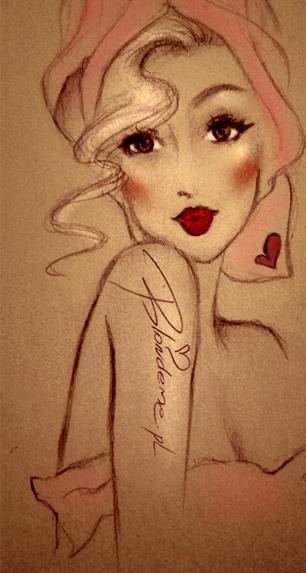 Pin-up girl blog blond wlosy
