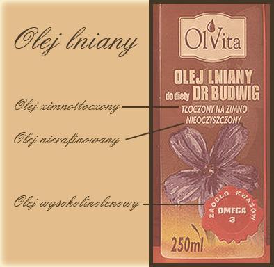 Olej lniany olvita blog wlosy
