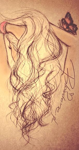 Blondynka rysunek wlosy blog