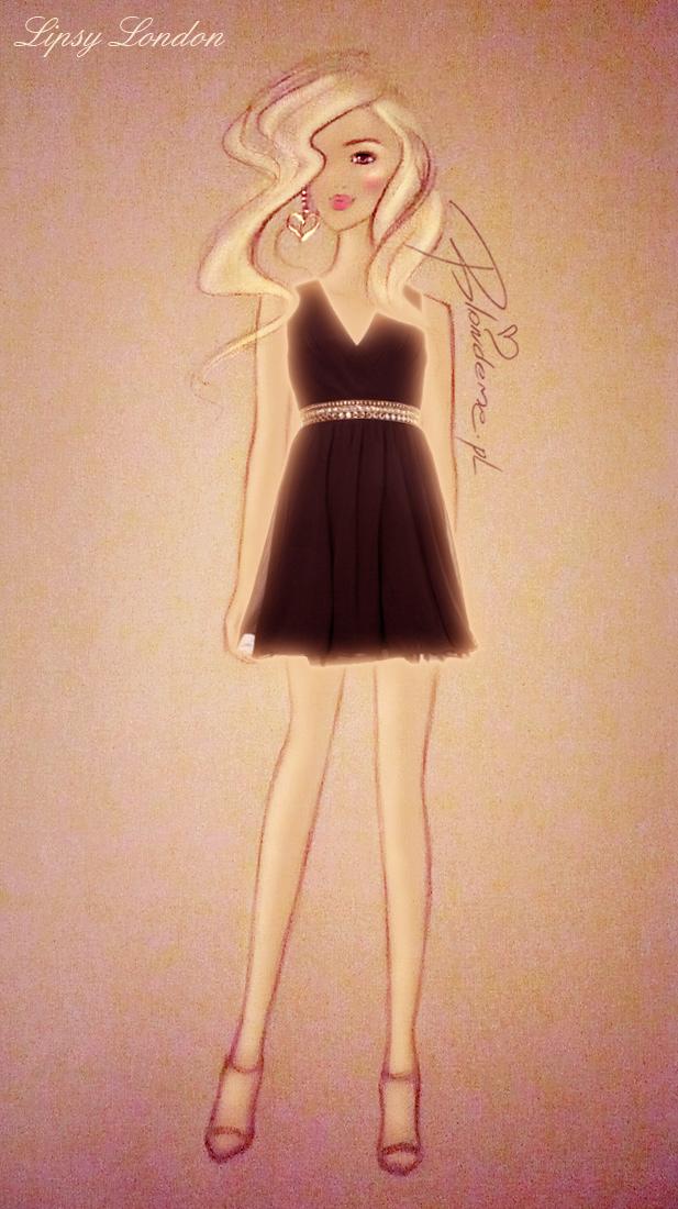 Czarna sukienka wieczorowa studniowke blog