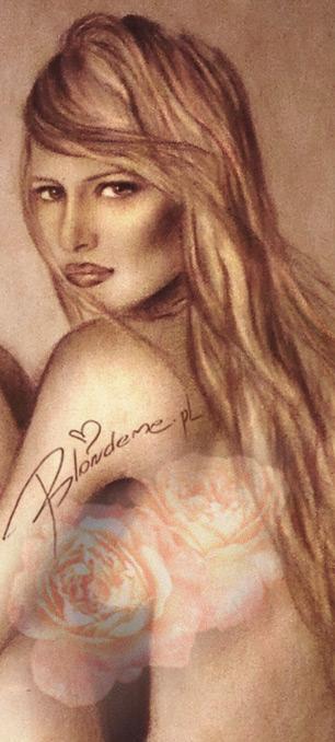 Karolina Kurkova blond blog rysunek