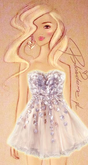 Sukienka na studniowke sylwestra blondynki blog