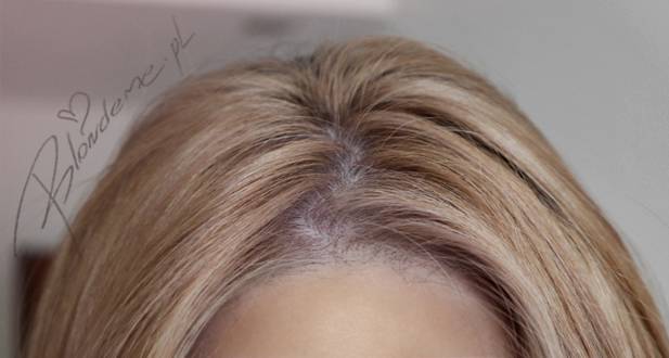 Odrosty bezowy blond naturalny blog farba