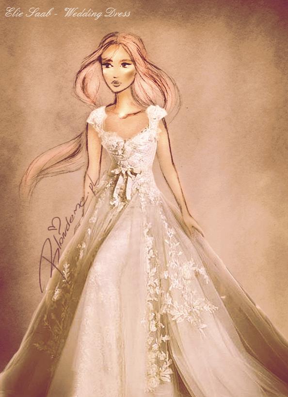 Piekna suknia slubna Elie Saab blog
