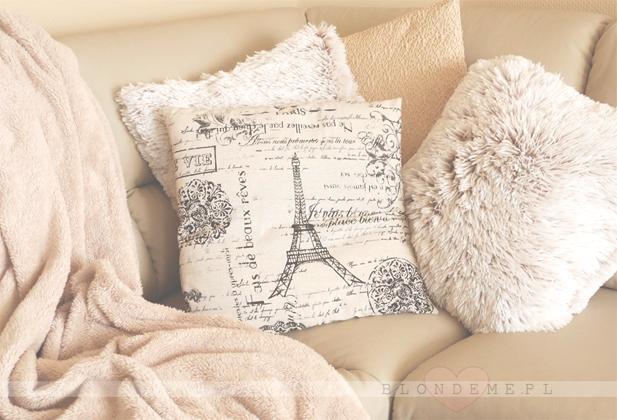 Poduszki pudrowy roz styl vintage blog