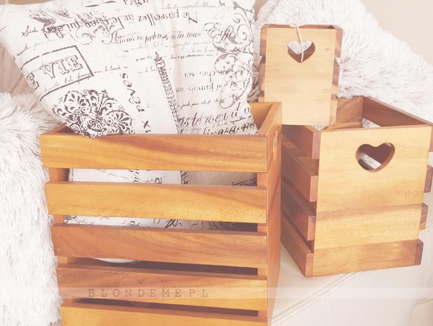 Skrzynki drewniane vintage dekoracje blog