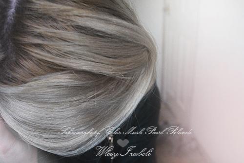 Ciemne odrosty cieply blond przed farbowaniem