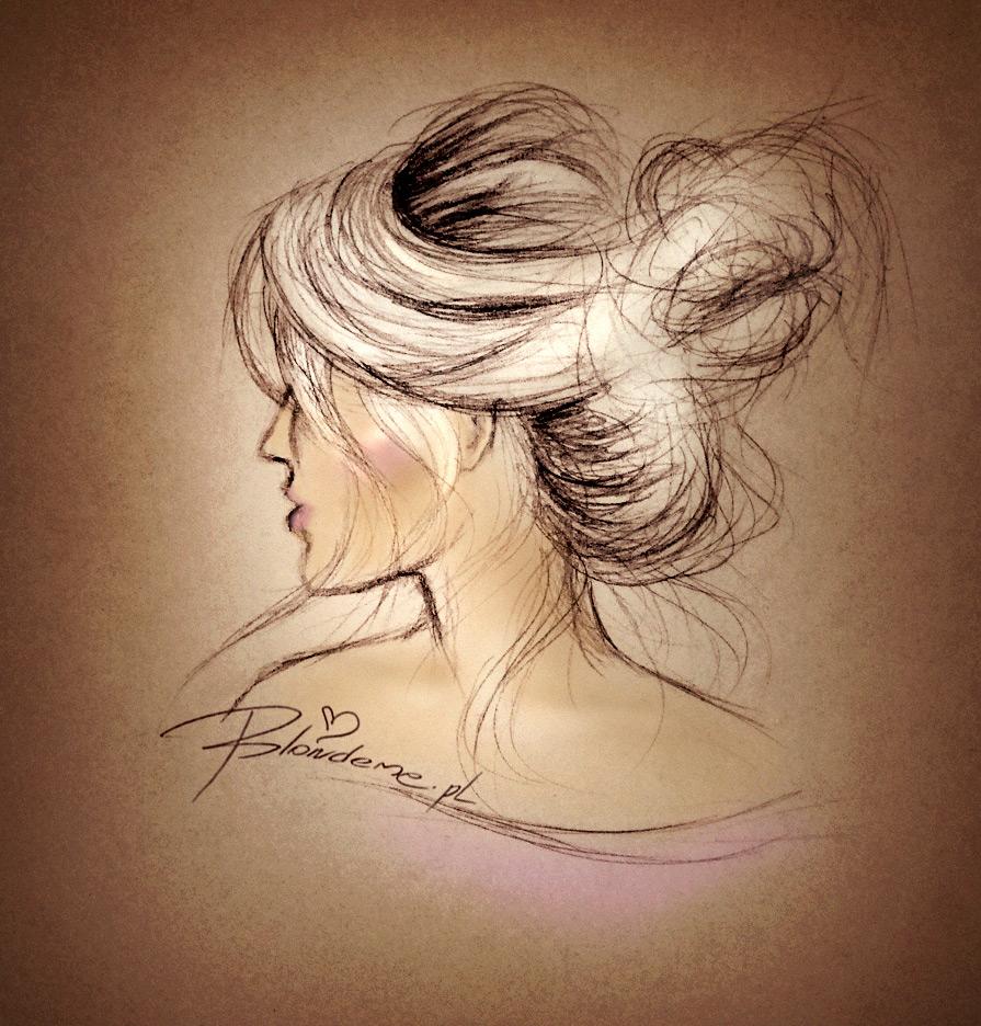 Koltun kok messy bun blond wlosy blog